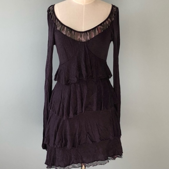 Three Dots Tops - Three Dots Purple Layered Tunic Dress